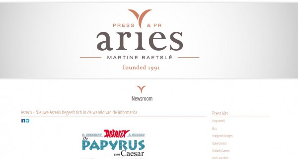 Responsive Website Voor Ariespr.be