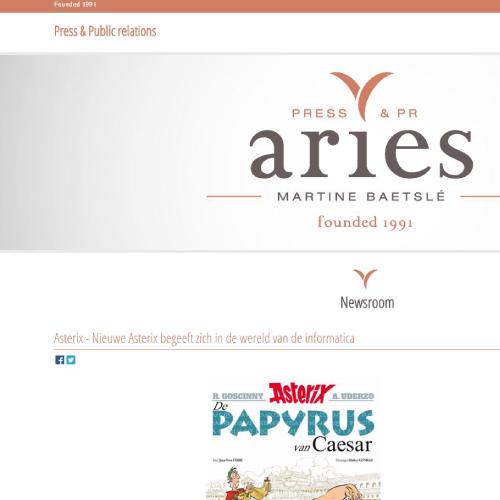 Responsive website voor Ariespr.be