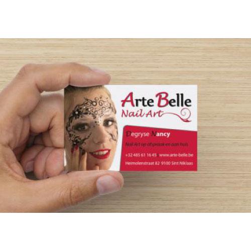 Visitekaartje nagelsalon Arte Belle
