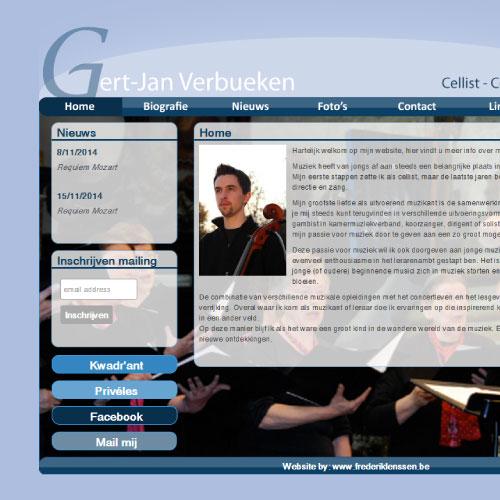 Website voor dirigent Gert-Jan Verbueken