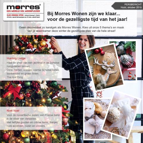Persbericht grafisch ontwerp Morres kerst