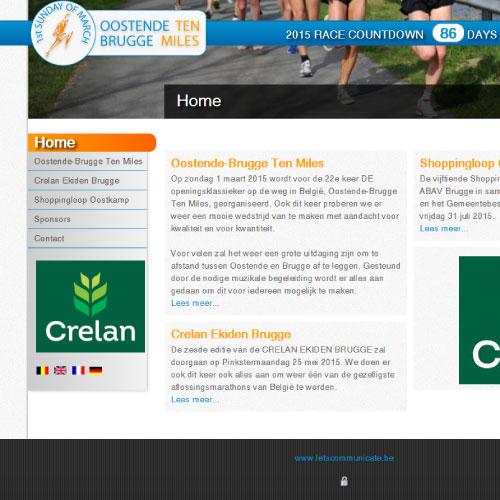 Website voor Oostende Brugge Ten Miles