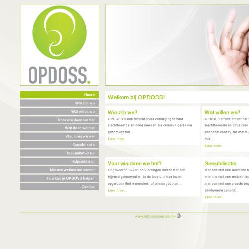 Website voor Opdoss federatie slechthorenden