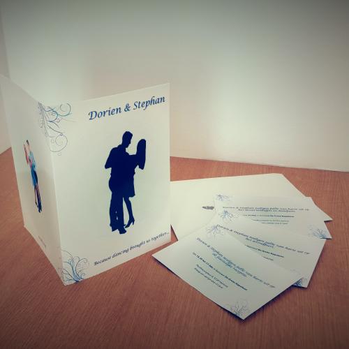 Trouwkaart grafisch ontwerp voor Dorien & Stefan