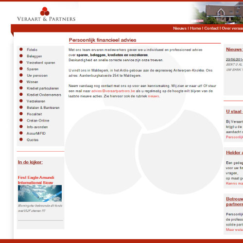 Website voor Veraart en partners