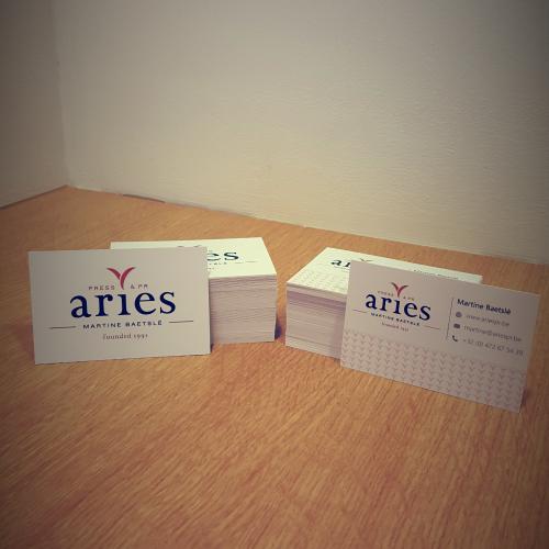 Visitekaartjes en Complimentcards voor Press & Public relations bureau