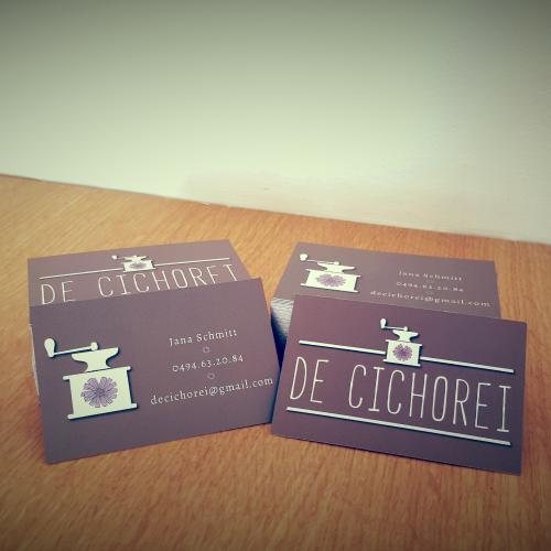 Visitekaart koffie-eethuis Cichorei