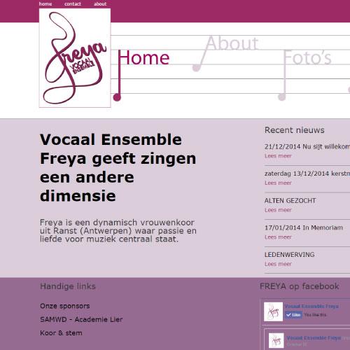 Website voor vocaal ensemble freya ranst