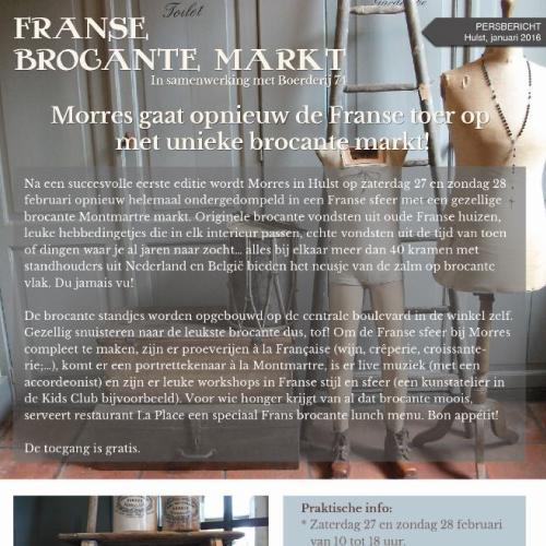 Grafisch ontwerp Morres Brocante markt