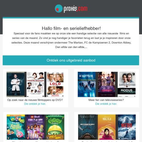 HTML-nieuwsbrief Template Voor Proxis.com En Medioeurope.com