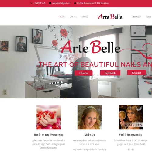 Responsive website voor Arte-Belle