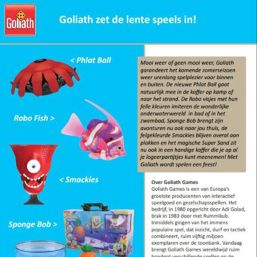 Design Persboekje Goliath: Voorjaar Nieuwe Spellen
