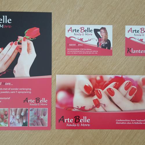 Ontwerp Van FLyer – Visitekaart – Klantenkaart – Cadeaubon Voor ArteBelle