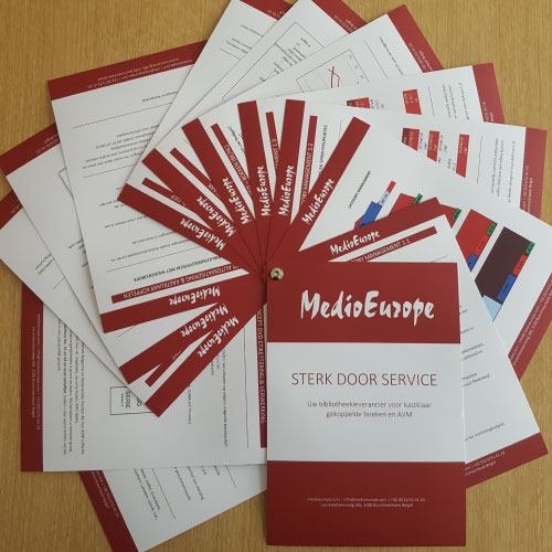 Grafisch ontwerp brochure waaier MedioEurope