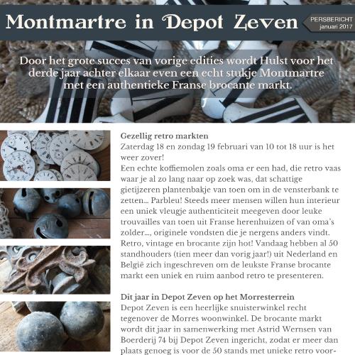 """Persbericht Ontwerp """"Montmartre In Depot Zeven"""""""