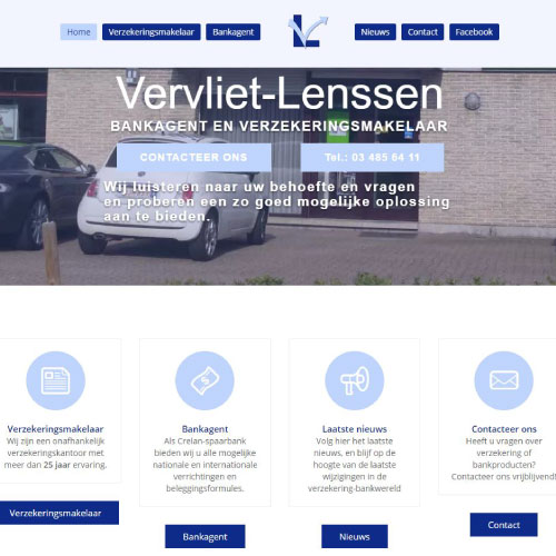 Responsive website voor Verzekeringen-Lenssen