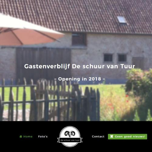 Responsive Website Voor Gastenverblijf De Schuur Van Tuur