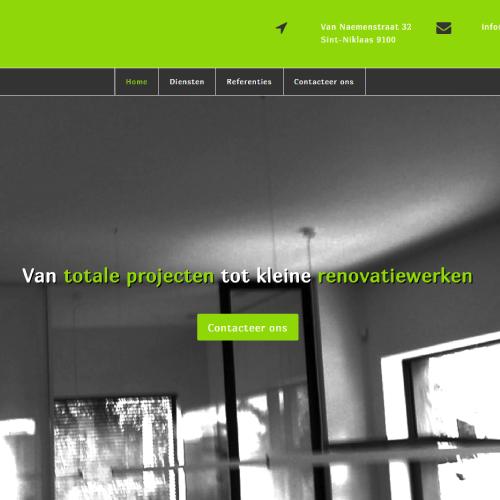 Responsive website voor De Renovator