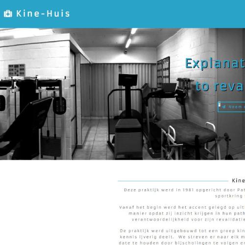 Mobielvriendelijke Website Kine-huis.be