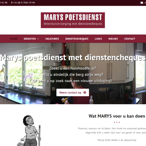 Responsive Website Marys.be